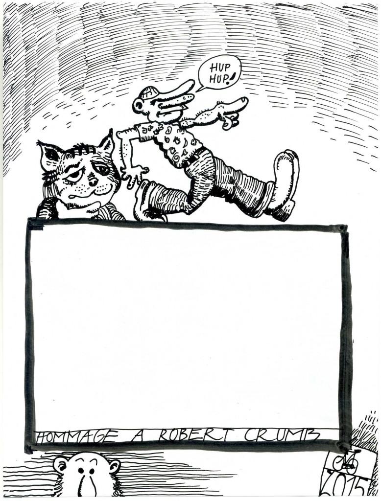 Zeichnung: V. Onmir, nach Robert Crumb, 5.2. 2015