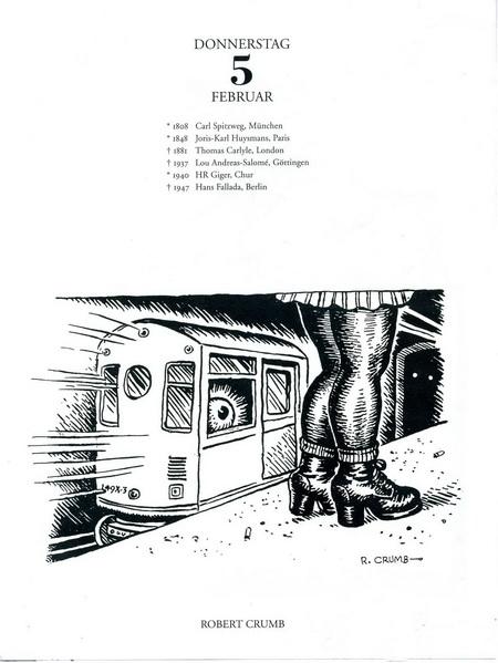 Robert Crumb, Rabenkalender 5.2. 2015