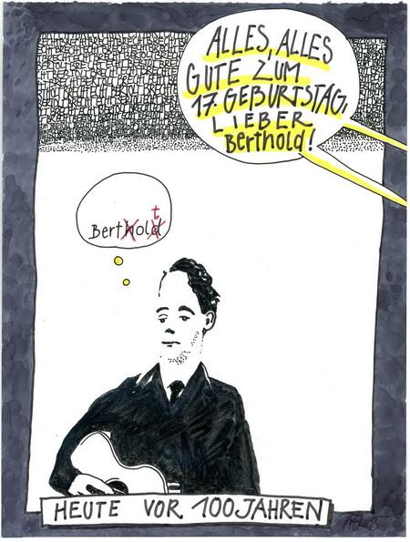 Zeichnung: V. Onmir, Rabenkalenderrückseite 10.2. 2015