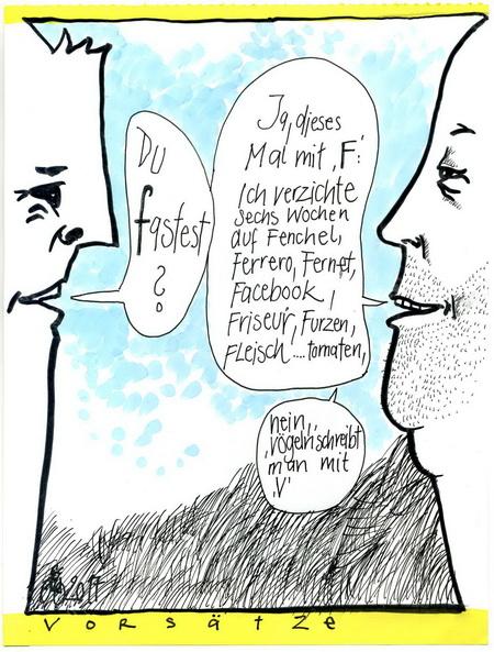 Zeichnung: F. Onmir, Rabenkalenderrückseite 17.2. 2015