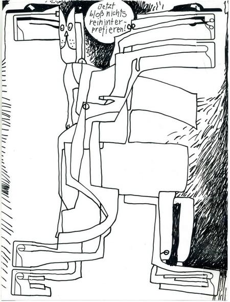 Zeichnung: V. Onmir, Rabenkalenderrückseite 26.2. 2015