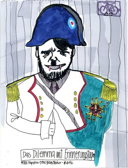 Zeichnung: V. Onmir, Rabenkalenderrückseite 20.4. 2015