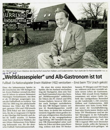 Reutlinger Nachrichten 20.4. 2015