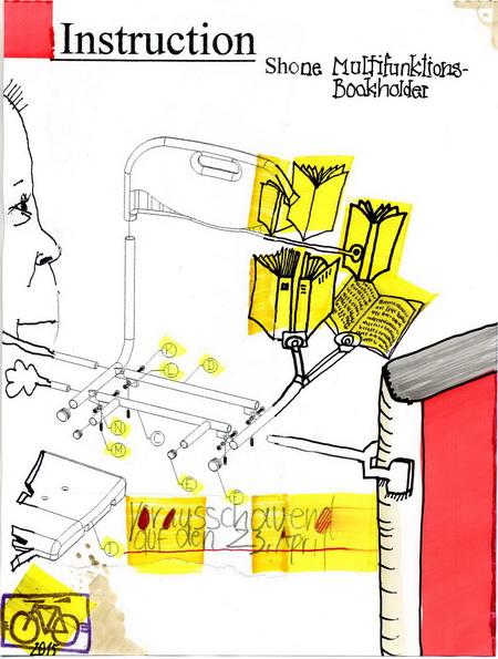 Zeichnung: V. Onmir, Rabenkalenderrückseite 21.4. 2015