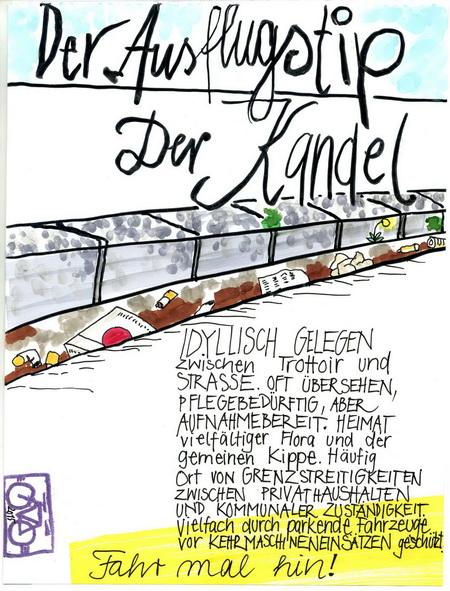 Zeichnung: Cleantouristmanager V. Onmir, Rabenkalenderrückseite 14.5. 2015