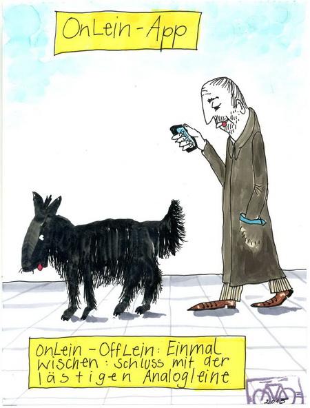 Zeichnung: Hundefreund V. Onmir, Rabenkalenderrückseite 8.6. 20115