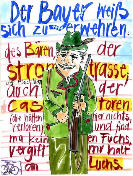 Zeichnung: Luchsfreund V. Onmir, Rabenkalenderrückseite 29.6. 2015