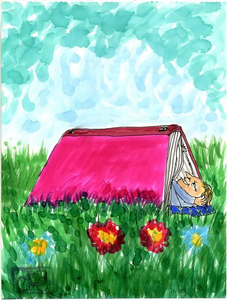 Zeichnung: Leser V. Onmir, Rabenkalenderrückseite 10.7. 2015