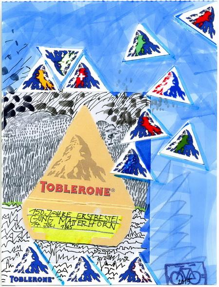 Zeichnung: Tobleronefan V. Onmir, Rabenkalenderrückseite 14.7. 2015