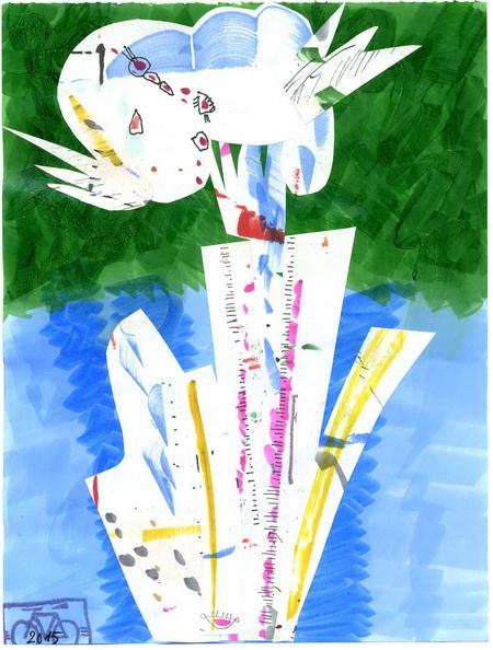 Zeichnung: Kavalier V. Onmir, Rabenkalenderrückseite 19.7. 2015
