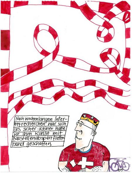 Zeichnung: Swissaffinist V. Onmir, Rabenkalenderrückseite