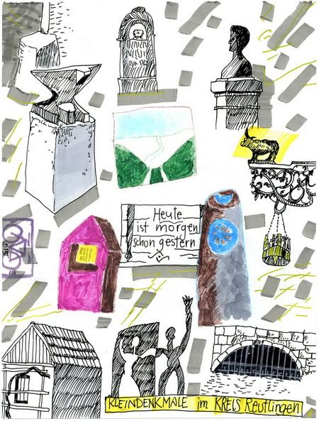 Zeichnung: DenkmalScout V. Onmir, Rabenkalenderrückseite 14.9. 2015