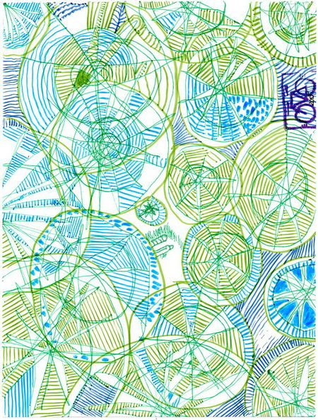 Zeichnung: Luftbildfantast V. Onmir, Rabenkalenderrückseite 23.9. 2015