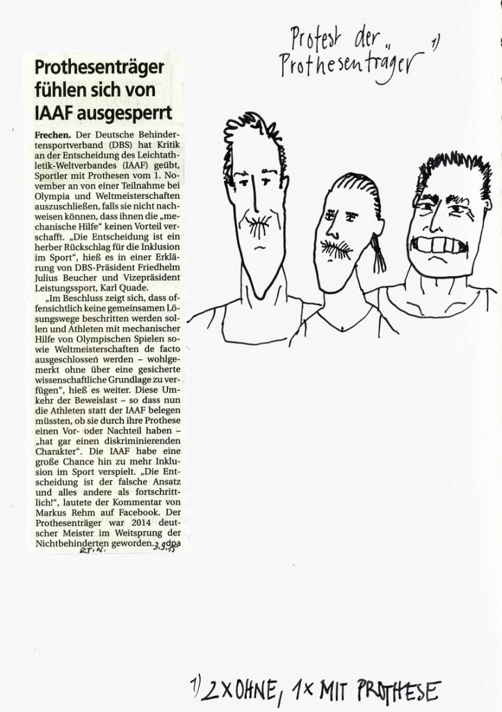 Zeichnung: Sportverfolger V. Onmir 6.9. 2015