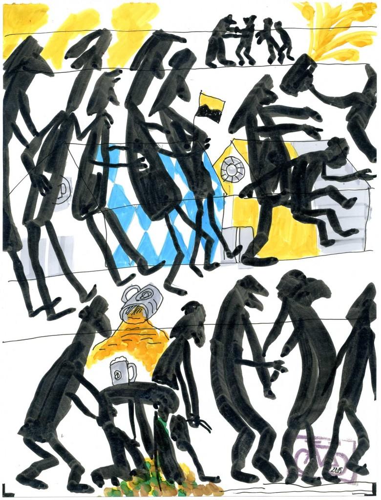 Zeichnung: V. Onmir, Rabenkalenderrückseite 16.9.2015