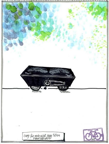 Zeichnung: Selbstplagiator V. Onmir, Rabenkalenderrückseite 17.9.2015