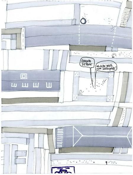Zeichnung: Pfadfinder V. Onmir, Rabenkalenderrückseite 23.11.2015