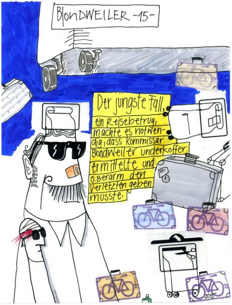 Zeichnung: Hobbykommissar V. Onmir, Rabenkalenderrückseite 28.10.2015