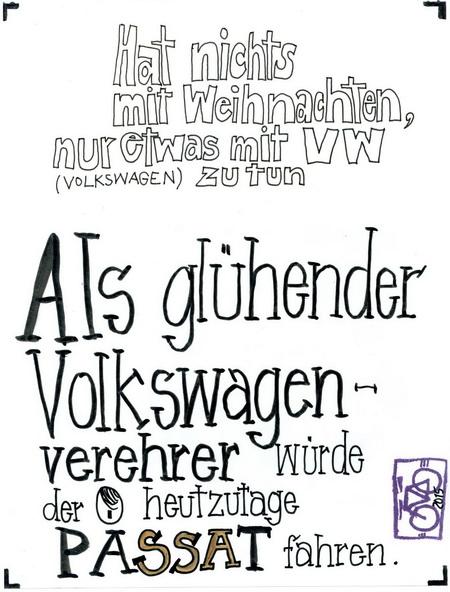 Zeichnung: Antifaschist V. Onmir, Rabenkalenderrückseite 23.12.2015