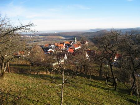 Blick auf Grafenberg ...