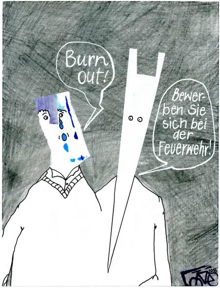Zeichnung: Optimist V. Onmir, Rabenkalenderrückseite 4.1.206