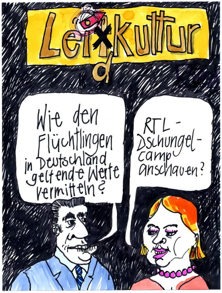 Zeichnung: Wegweiser V. Onmir, Rabenkalenderrückseite 22.1.2016