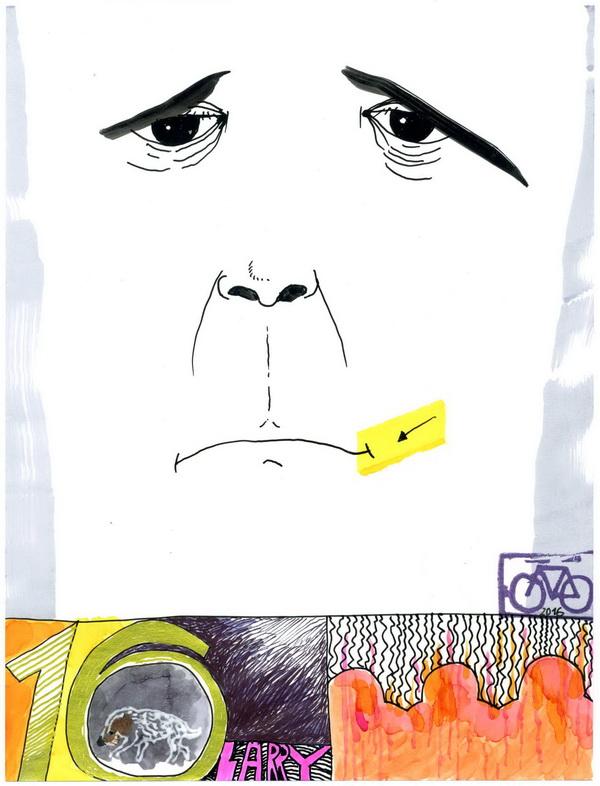 Zeichnung: V. Onmir, Rabenkalenderrückseite 6.1.2016