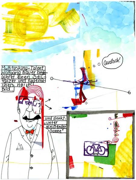 Zeichnung: Dreidenker V. Onmir, Rabenkalenderrückseite 10.2.2016