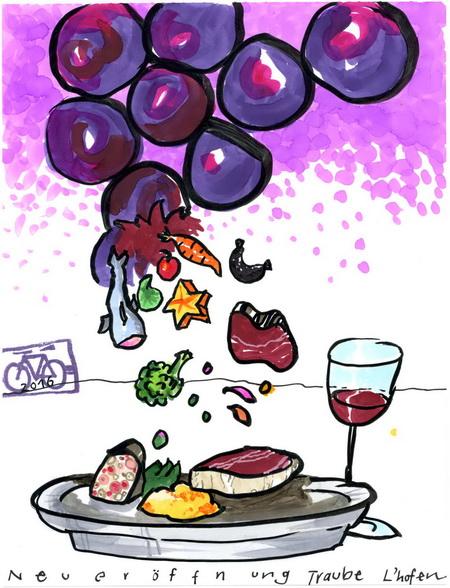Zeichnung: V. Onmir, Rabenkalenderrückseite 12.2.2016