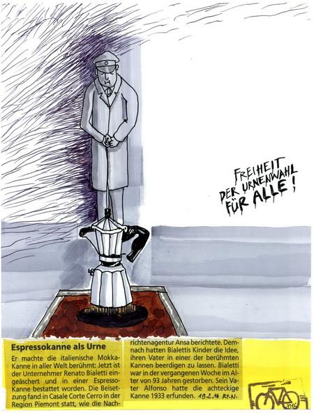 Zeichnung: V. Onmir, Rabenkalenderrückseite 19.2.2016