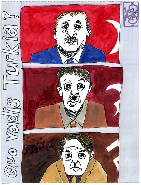 Zeichnung: V. Onmir, Rabenkalenderrückseite 26.4. 2016