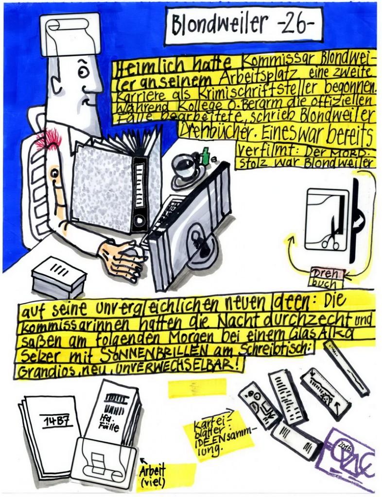 Zeichnung: Filmförderer V. Onmir, Rabenkalenderrückseite 5.3.2016