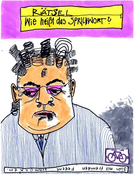 Zeichnung: auch V. Onmir, Rabenkalenderrückseite 19.3. 2016