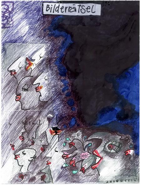 Zeichnung: V. Onmir, Rabenkalenderrückseite 18.5.2016