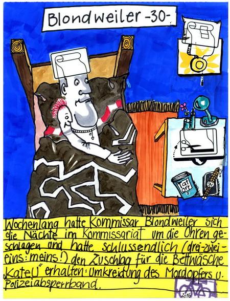 Zeichnung: V. Onmir, Rabenkalenderrückseite 20.5.2016