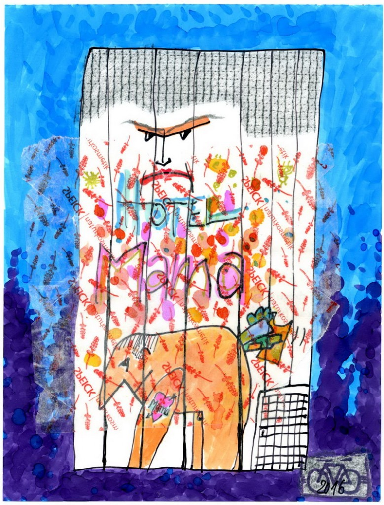 Zeichnung: V. Onmir, Rabenkalenderrückseite 17.6.2016