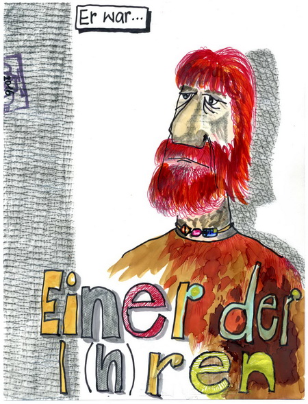 Zeichnung: V.Onmir, Rabenkalenderrückseite 19.6.2016