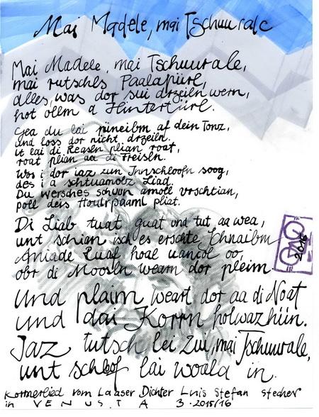 Zeichnung: V. Onmir, Rabenkalenderrückseite 26.6.2016