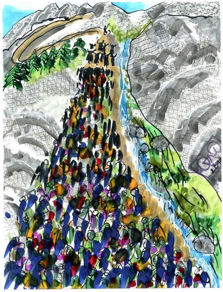 Zeichnung: Yakfreund V. Onmir, Rabenkalenderrückseite 28.6.2016