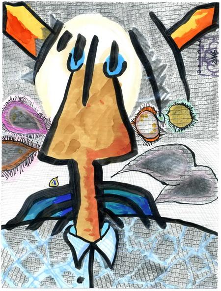 Zeichnung: Donald.ist V. Onmir, Rabenkalenderrückseite 1.7.2016
