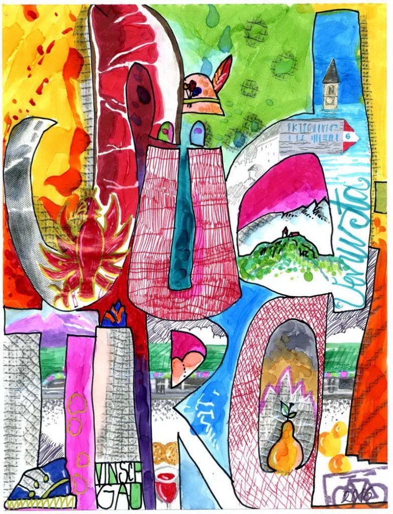 Zeichnung: V.Onmir, Rabenkalenderrückseite 26.6.2016