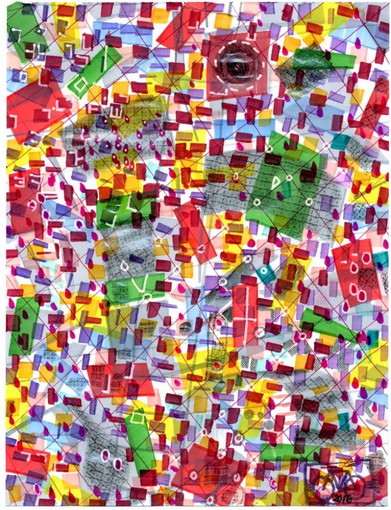 Zeichnung: V. Onmir, Rabenkalenderrückseite 5.7.2016