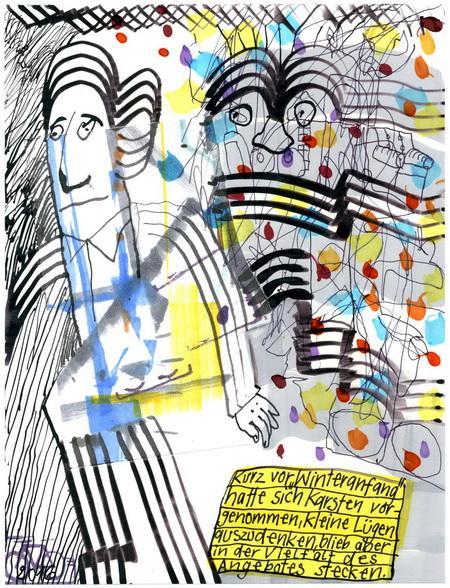 Zeichnung: V. Onmir, Rabenkalenderrückseite 27.7.2016