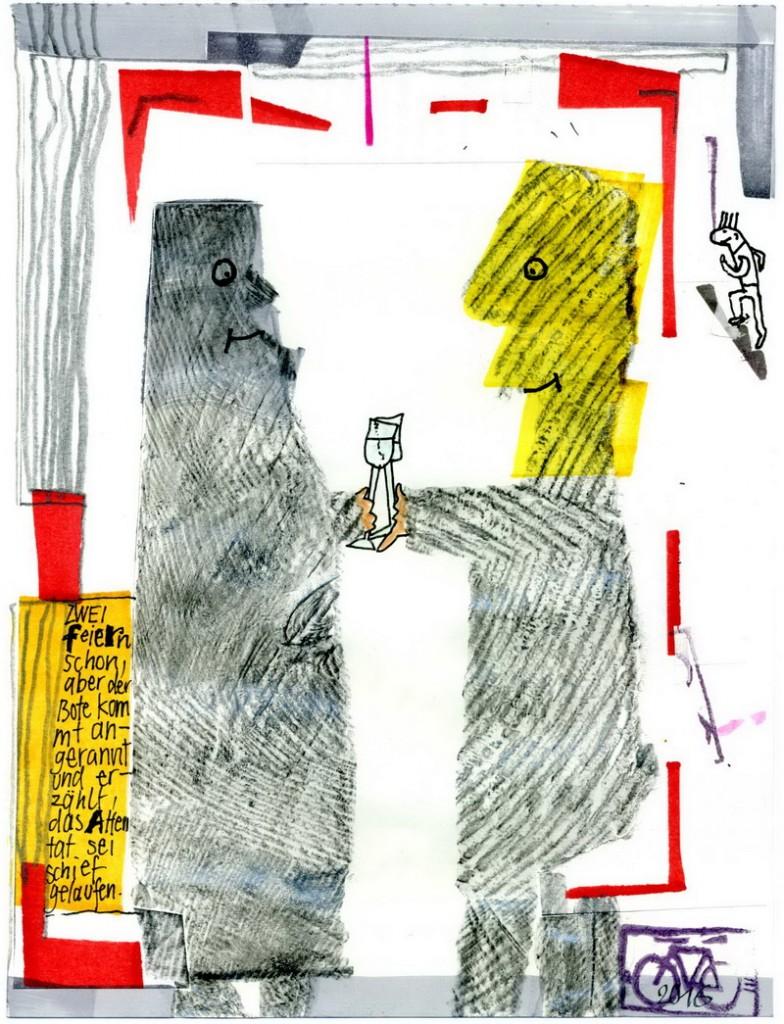 Zeichnung: V. Onmir, Rabenkalenderrückseite 20.7.2016
