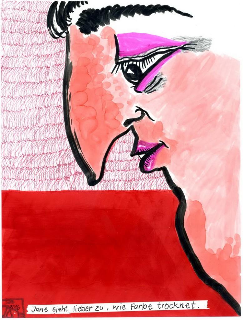 Zeichnung: V. Onmir, Rabenkalenderrückseite 22.7.2016