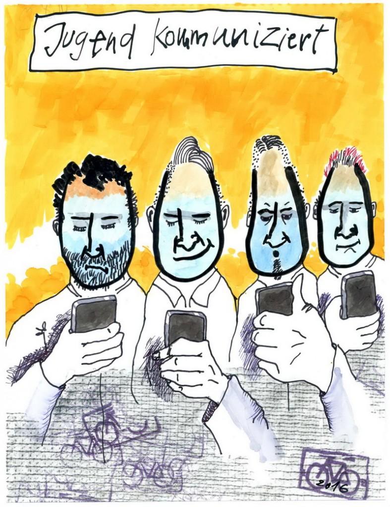 Zeichnung: Jugendbeobachter V. Onmir, Rabenkalenderrückseite 24.7.2016