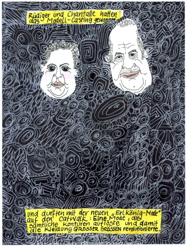 Zeichnung: V. Onmir, Rabenkalenderrückseite 12.8.2016