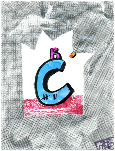 Zeichnung: V. Onmir, Rabenkalenderrückseite 1.9.2016
