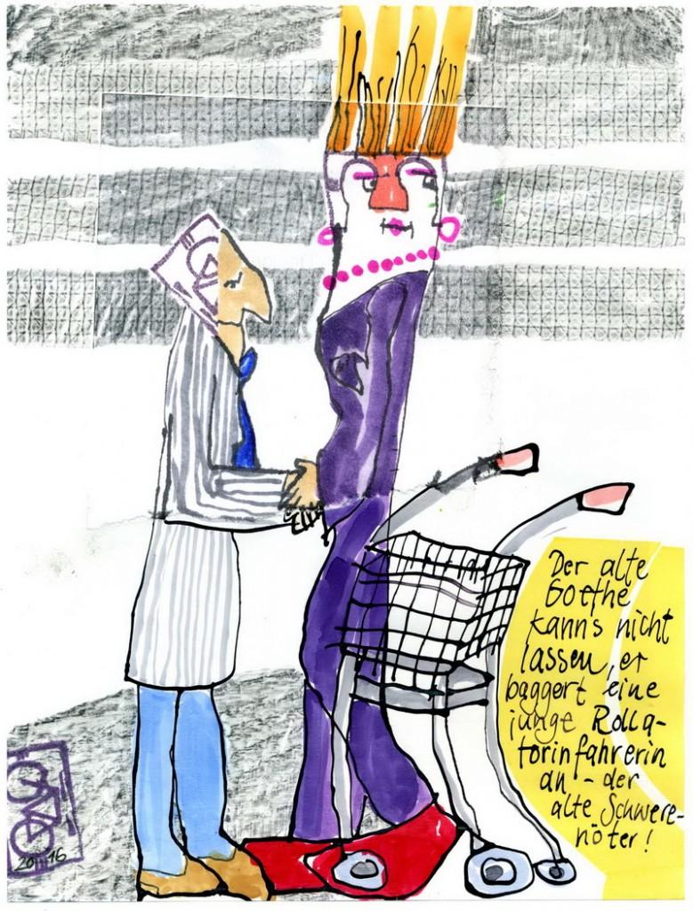 Zeichnung: V. Onmir, Rabenkalenderrückseite 2.9.2016