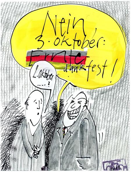 Zeichnung: V. Onmir (West), Rabenkalenderrückseite 2.10.2016
